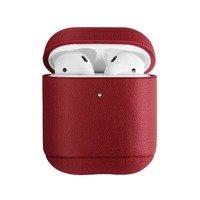 UNIQ etui Terra AirPods 1/2 gen. Genuine Leather czerwony/red