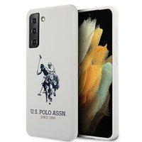 US Polo USHCS21MSLHRWH S21+ G996 biały/white Silicone Logo