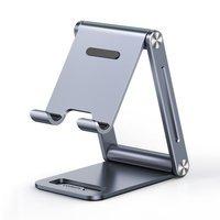 Ugreen metalowa aluminiowa składana podstawka na telefon tablet szary (LP263 80708)