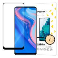 Wozinsky super wytrzymałe szkło hartowane Full Glue na cały ekran z ramką Case Friendly Huawei P Smart Z / Huawei P Smart Pro / Honor 9X czarny