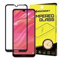 Wozinsky super wytrzymałe szkło hartowane Full Glue na cały ekran z ramką Case Friendly Huawei Y7 2019 / Y7 Pro 2019 / Y7 Prime 2019 czarny
