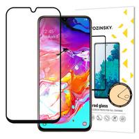 Wozinsky super wytrzymałe szkło hartowane Full Glue na cały ekran z ramką Case Friendly Samsung Galaxy A70 czarny