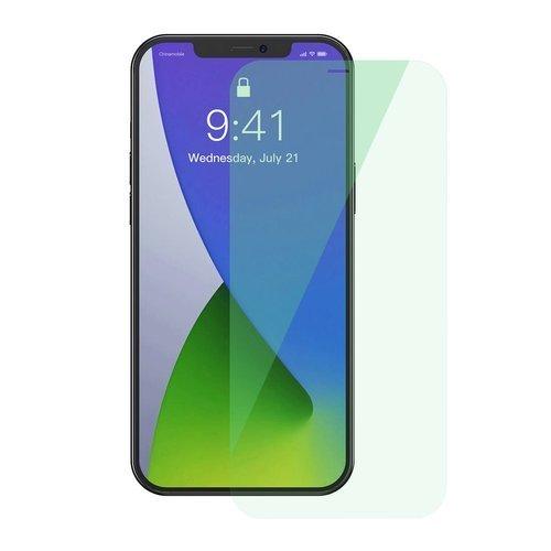 Baseus 2x zielone szkło hartowane 0,15 mm z filtrem Anti Blue Light iPhone 12 Pro Max (SGAPIPH67N-LQ02)