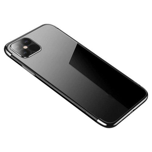Clear Color case żelowy pokrowiec etui z metaliczną ramką Samsung Galaxy A11 / M11 czarny