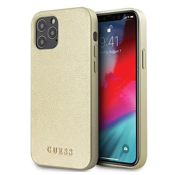 "Guess GUHCP12MIGLGO iPhone 12/12 Pro 6,1"" złoty/gold hardcase Iridescent"
